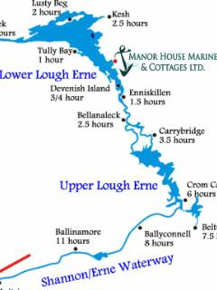 Map showing Lower and Upper Lough Erne