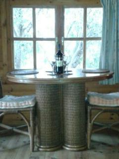 Dining Table seats 4, over looking the Olive Tree & stunning views beyond