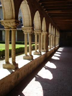 Cloisters in 12th Century Abbaye in Valence