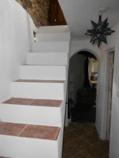 Back hall stairs to bedroom and terrace