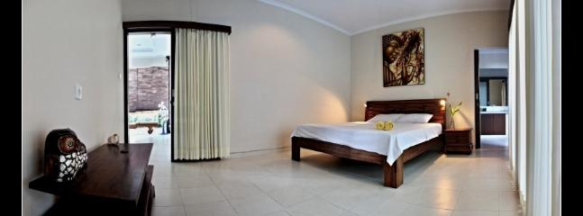 Buddha bedroom with king size bed, AC and ensuite bathroom