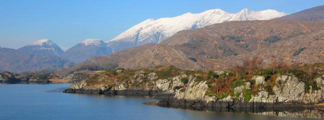 Lakes of Killarney with snow-capped Macgillycuddy Reeks