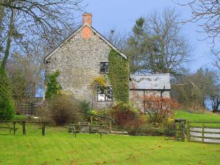 Trowley Farmhouse as seen from the garden below