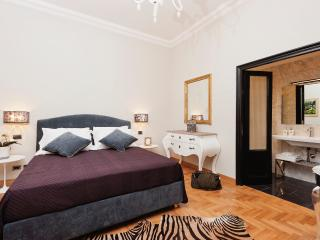 Silver Room - the first luxury bedroom of the two bedrooms in the apartment