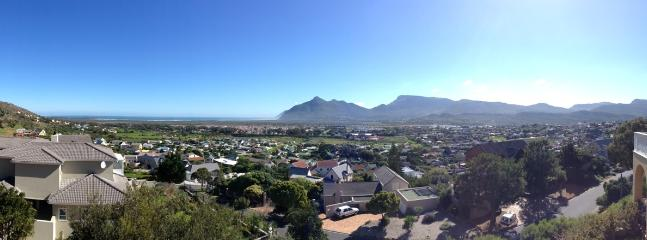 View of the Noordhoek Valley and Chapmans Peak from the apartment