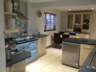 Kitchen /diner with gas fired Aga range