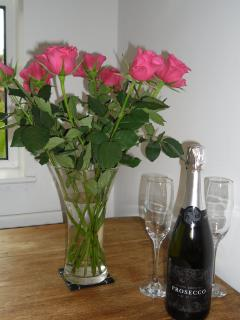 Welcome flowers & fiz