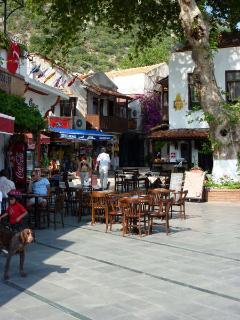 Enjoy a refreshing drink at a terrace bar