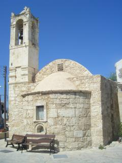 Church in Polis square