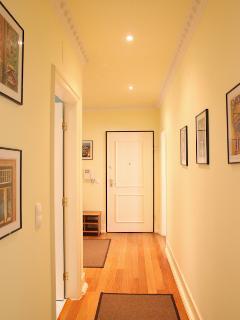 A large corridor as you enter the apartment