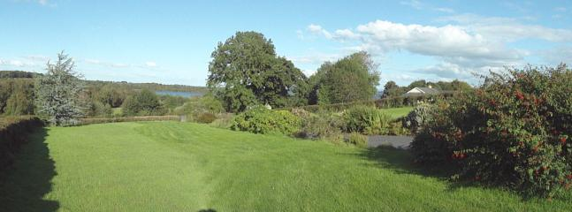 lawn area adjacent to cottage