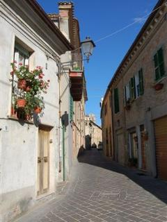 A street in local town of Atri