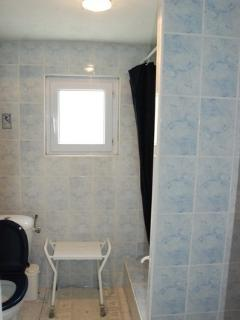 shower/toilet and hand basin