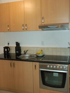 Kitchen with gorgeous granite