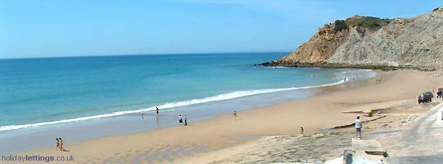 Burgau beach.  Five minutes drive away