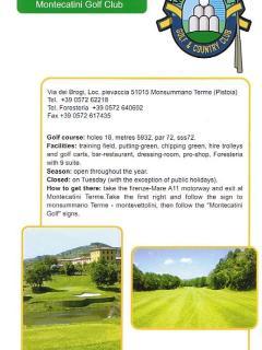 Campi da golf ' Montecatini golf club, 18 buche'