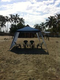 Chairs or sun beds with parasol available. All set up at your request.