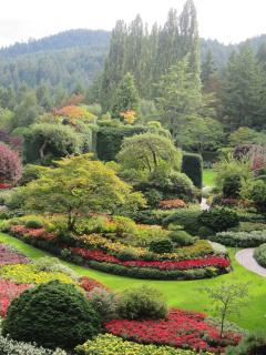 World renown Butchart Gardens, Victoria's most popular attraction.