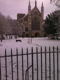 Snowy Cathedral view