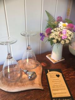 Wild flowers & wine glasses.....