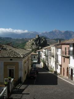 Roccascalegna with its medieval castle, one of four surrounding villages