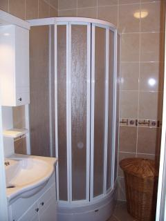 Sizeable bathroom with large shower