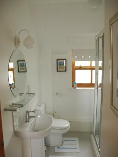 cosy bright shower room with large walk in shower