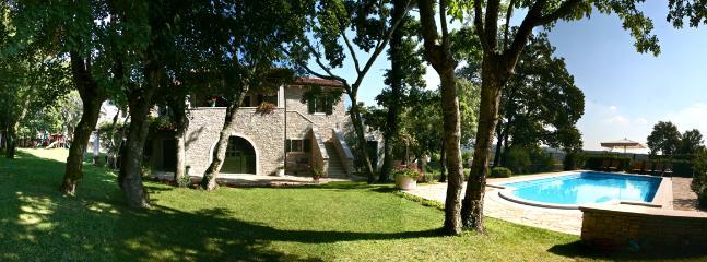 The villa and big private pool