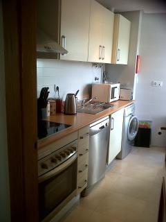 View of kitchen, well equipped with all essential Mod-cons for everyday use.