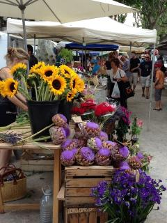 market Sunday and Wednesday - local produced food, flowers, handicrafts etc