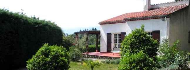 View of the house with garden