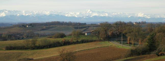 View on the Pyrenees in the winter