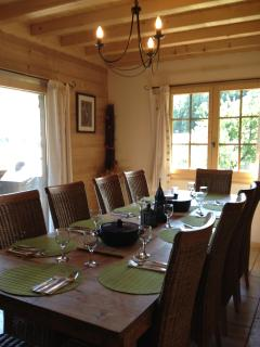 Enjoy a fine dinner around this table with friends