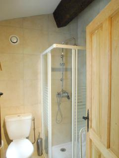 A well equipped family shower room