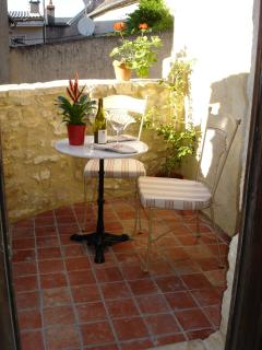 private back terrace for alfresco dining