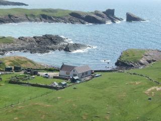 Cottage is located only yards from the sea on the north side of Clachtoll Bay.