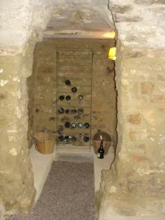 wine storage in the cave