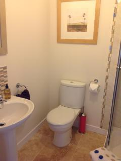 Tigh Na Creag, Newly fitted shower room on ground floor with Islay Whisky soap provided