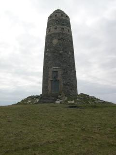 The Oa American Monument, situated on the Oa cliffs.