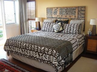 Tastefully furnished Master bedroom with extra large (king) bed