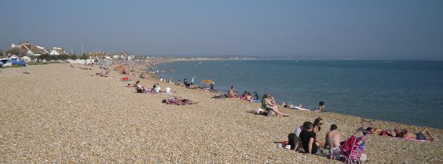 100m walk to Pevensey Bay beach- sandy at low tide and a popular choice for locals anytime of year