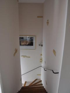 escalier pour acceder à l'étage (vue d'en haut)