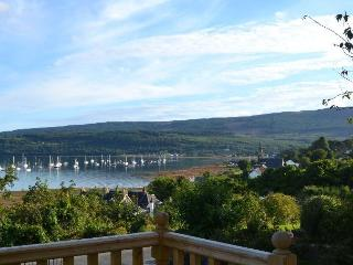 Enjoy the spectacular view of Lamlash Bay, Isle of Arran from the decking