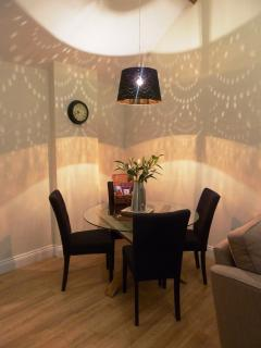 Enjoy a delicious meal in our cosy dining area