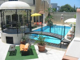 Gazebo overlooking pool area