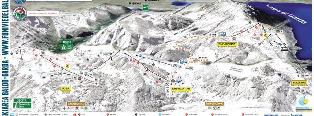 Monte Baldo Ski center at 15 km