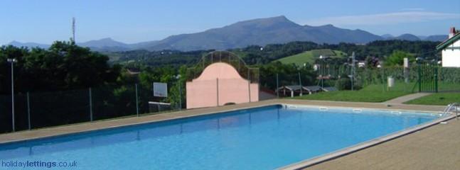 swimming pool and fronton, LARHUN IN THE DISTANCE