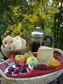 organic product for self-catering breakfast