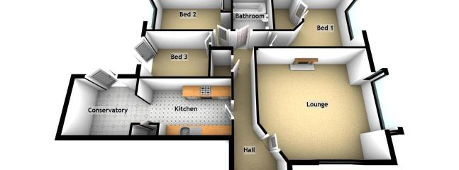 Floor plan - all on the level - no stairs!