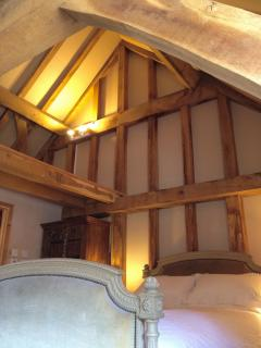 Vaulted oak ceiling